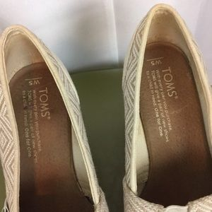 Toms Shoes - Toms woven print wedge cork wedge heels 5